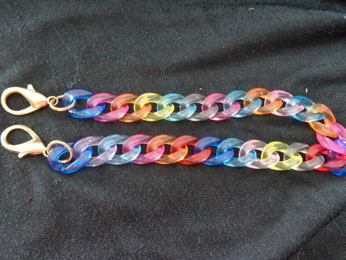 "chain for purse 15"" mixed col. with hooks"