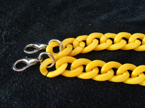 "chain for purse 23"" yellow with hooks"