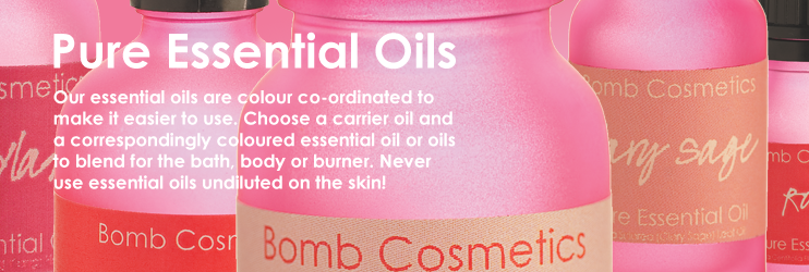 Bomb Cosmetics, Essential & Carrier Oils, pure, natural, genuine