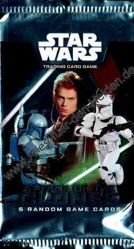 Star Wars TCG: Attack of the Clones, 5 Card Booster Pack