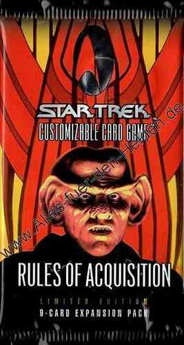 Star Trek CCG: Rules of Acquisition, Booster Pack, Limited Edition