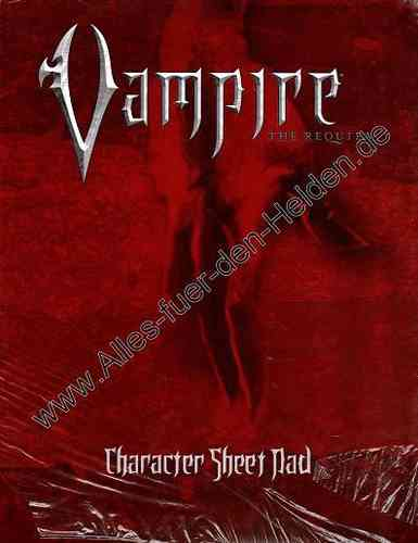Vampire: The Requiem: Character Sheet Pad