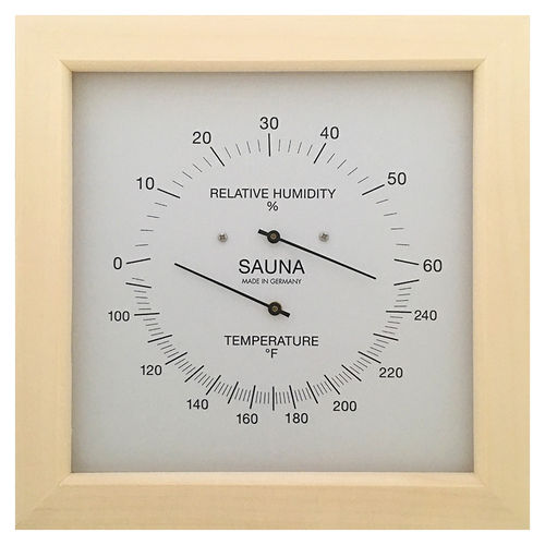 Sauna Thermometer & Hygrometer 200 mm, 187TH-03F (Englisch, °F)