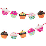 Farbenfrohes  Cupcake-Girlanden Bastel-Set