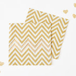 20 Party-Servietten mit Gold Weißem Chevron-Muster