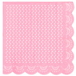 "20 Elegante Papier-Servietten ""White Lace"" in Rosa"