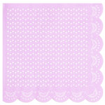 "20 Papier-Servietten in Pastell-Lila ""White Lace"""