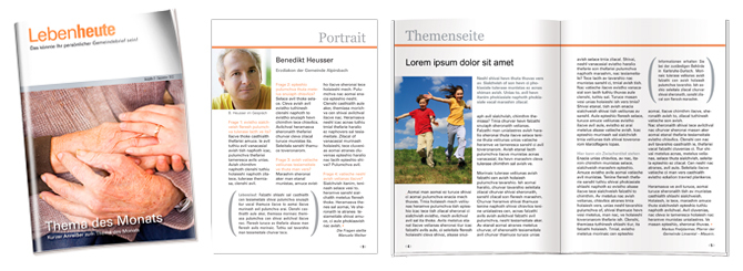 Gemeindebrief-Design 3, orange