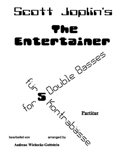 "Scott Joplin: ""The Entertainer"" (5 db) pdf-file"