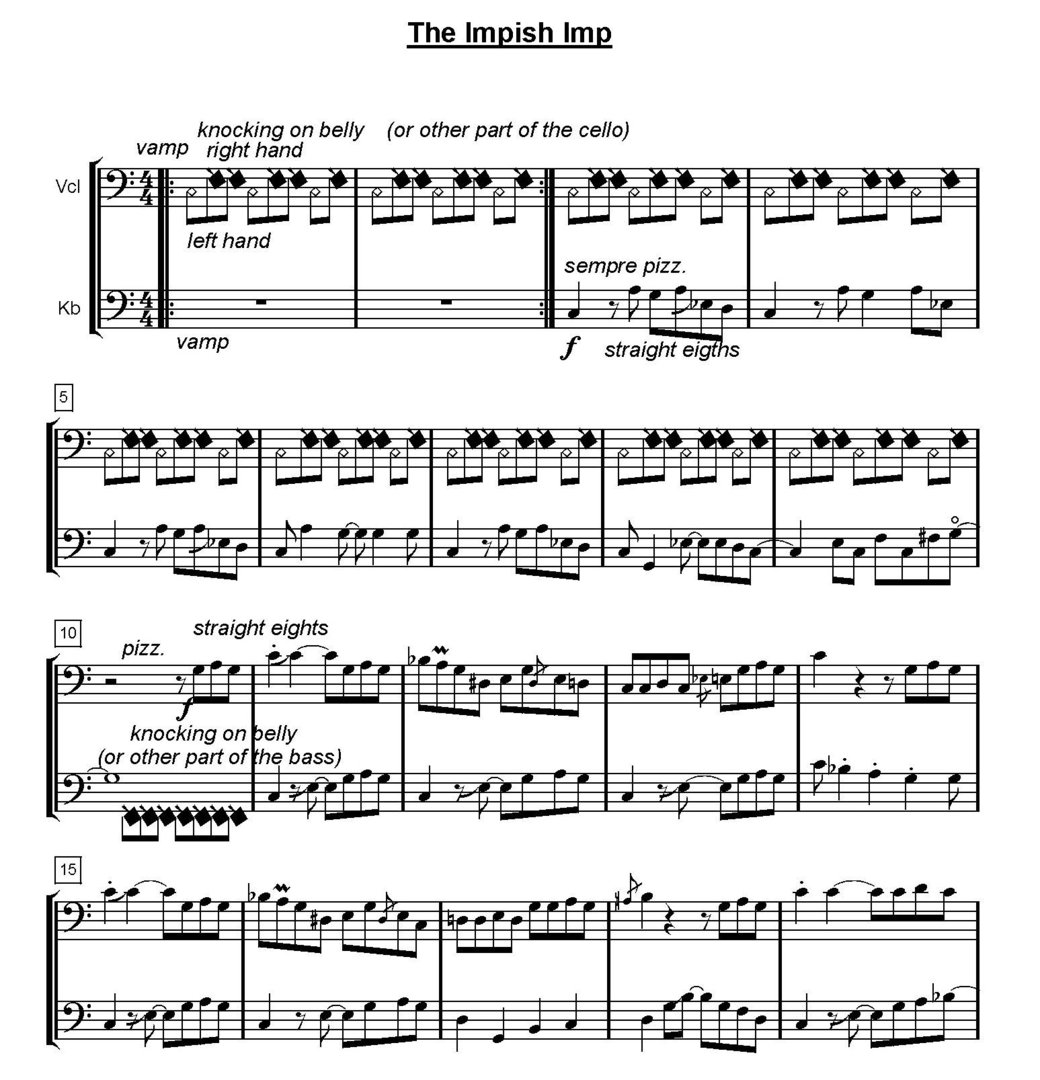 "Mike Curtis: ""Seven Jazz and Ethnik Duos"" (vc+db) pdf-file - PRObass"