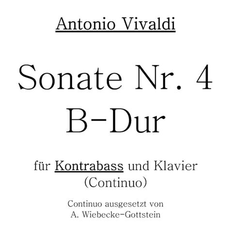 "Antonio Vivaldi: ""Sonata No. 4 B flat major"" pdf-file"