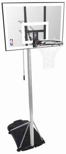 SPALDING NBA SILVER PORTABLE - Basketballkorb + Basketball