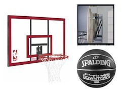 Spalding NBA Polycarbonat Backboard + Basketballkorb + Halterung + Ball