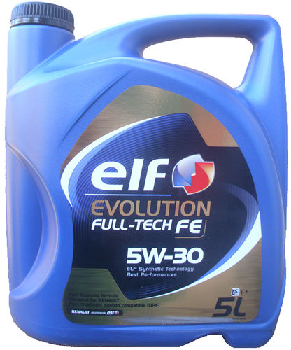 1 X 5 Liter ELF 5W-30 Evolution Full-Tech FE - Renault RN0720