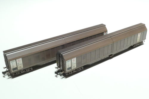 MTR/HN6284 ÖBB 2x slide wall car Habis 8 brown