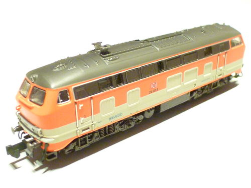Minitrix 16286 DB AG 218 137-8 CityBahn orange/gray