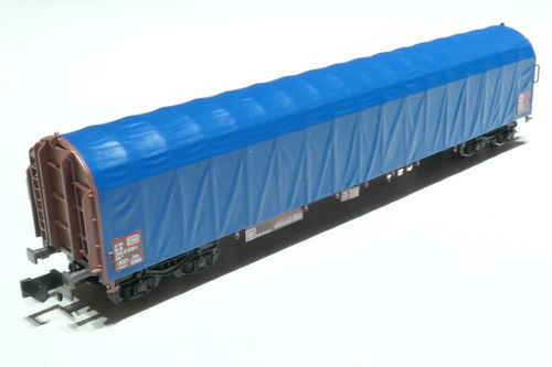 Minitrix 15869-03 4axl. sliding wagon blue