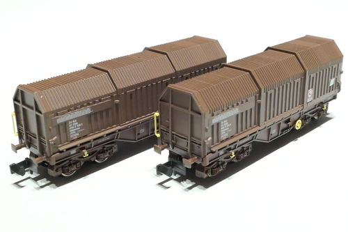 Fleischmann 838811 ÖBB 2x coil car brown