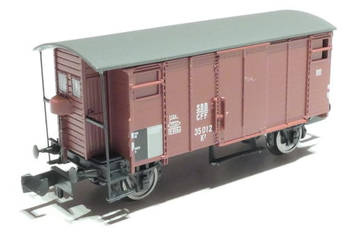 BRAWA 67851 SBB 2axl. box car brown