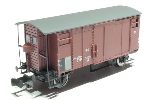 BRAWA 67852 BLS 2axl. box car brown