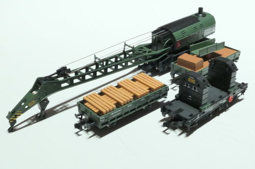 Fleischmann 859902 DB 4pieces set crane train