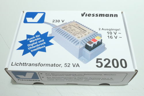 Viessmann 5200  light transformer 16V, 52 VA