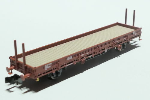 Fleischmann 825734 NS 2axl stake car brown