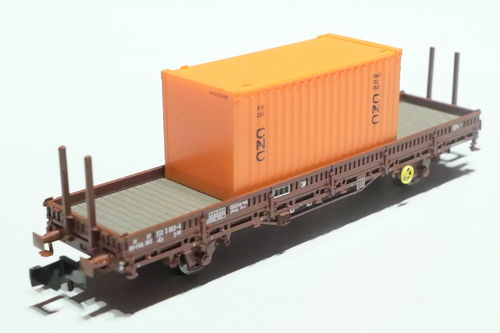 Fleischmann 825736 SNCF 2axl stake car brown