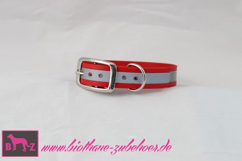 25mm Beta Biothane Reflective Halsband verstellbar