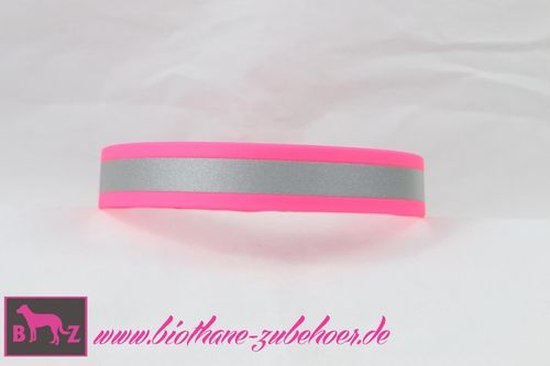 19mm Beta Biothane Reflective Halsband Plastikstecker