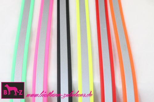 25mm Beta Biothane Reflective Halsband Plastikstecker