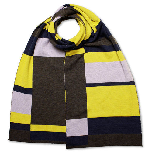 Scarf Art-Line Boxes, anthracite/yellow/blue