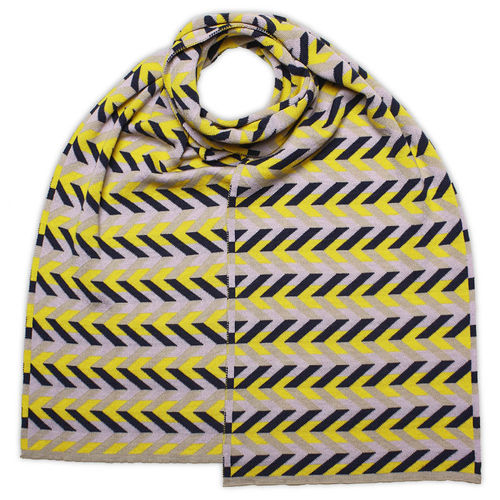 Scarf Art-Line Square, blue/yellow