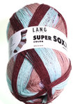 "Lang Yarns ""Super Soxx Color"", Farbe 72 - Blockstreifen"