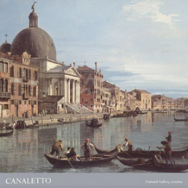 Venice: The Upper reaches of the Grand Canal with S. Simeone Piccolo, ca. 1738 (detail)