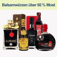 Balsamico und weitere Essigspezialitäten mit Most als Hauptbestandteil