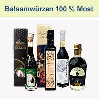 Balsamico und weitere Essigspezialitäten zu 100 % aus Most