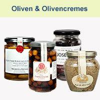 Oliven und Olivencremes