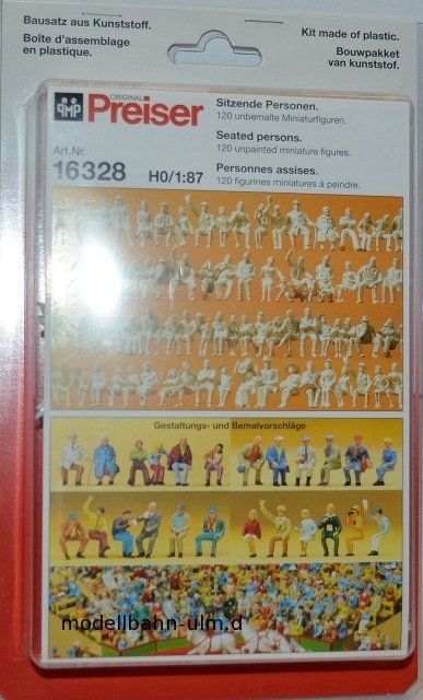120 unbemalte personnages Assis Personnes Preiser 16328