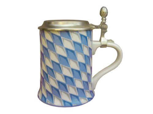 Tankard with pewter lid - Bavaria