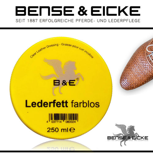 B&E - Lederfett farblos 250 ml