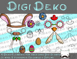 Digi Deko Ostern, Accessoires für Digistamps , je mind. 2 Versionen: Outlines, in Farbe