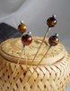 Nadel mit einer Perle aus Tigerauge - pin with a bead of  tiger's eye