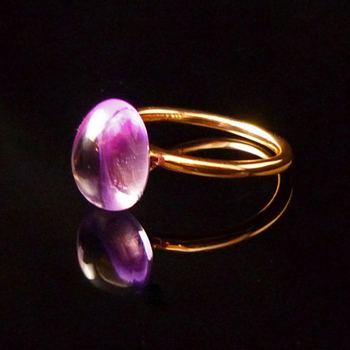 GILARDY GOCCIA ring  from 18Ct rosé gold with amethyst