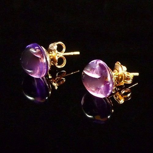 GILARDY GOCCIA earrings 18Ct rosé gold with amethyst