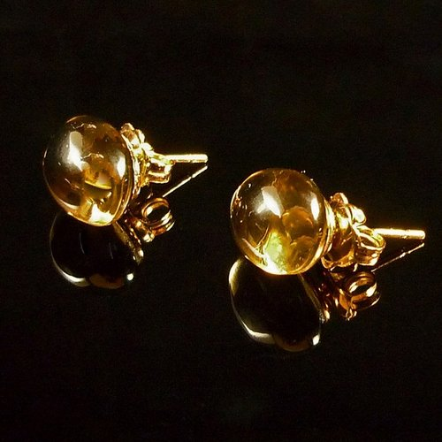 GILARDY GOCCIA earrings from 18Ct rosé gold with cairngorm
