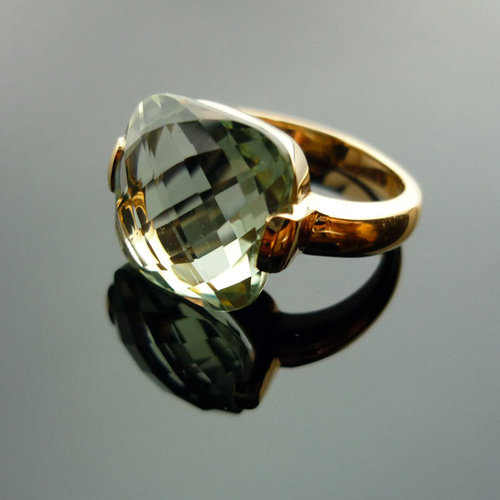 GILARDY CAPRI ring from 18K rosé gold with prasiolite