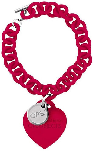 OPS!OBJECTS Love Armband rot Stahl OPSBR-06-1800