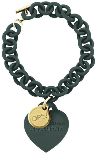 OPS!OBJECTS Love Armband dunkelgrün gelbvergoldet OPSBR-16-1800