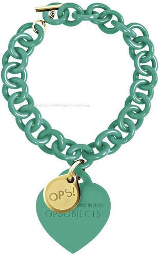 OPS!OBJECTS Love Armband türkis Stahl OPSBR-20-1800